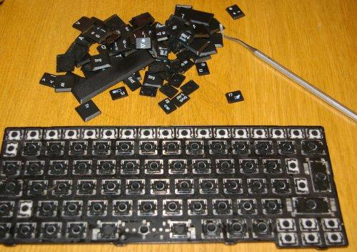 wasser über tastatur