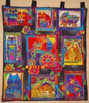 Patchwork und quiltforum t rbehang mit katzen - Wandbehang patchwork ...
